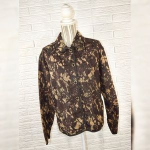 Vintage Keren Hart Brown & Black Patterned Jacket